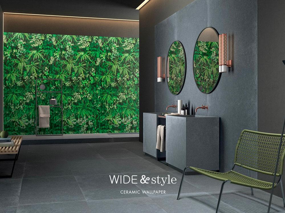 WIDE&STYLE Ceramic Wallpaper. Grandi lastre in gres ...